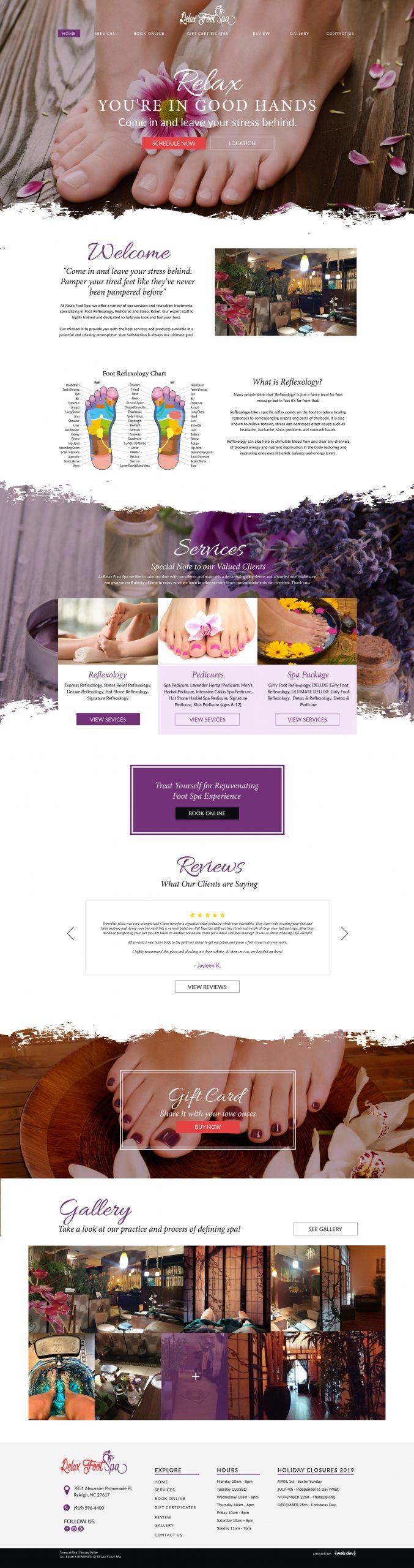 Massage Spa Website redesign by wordpress