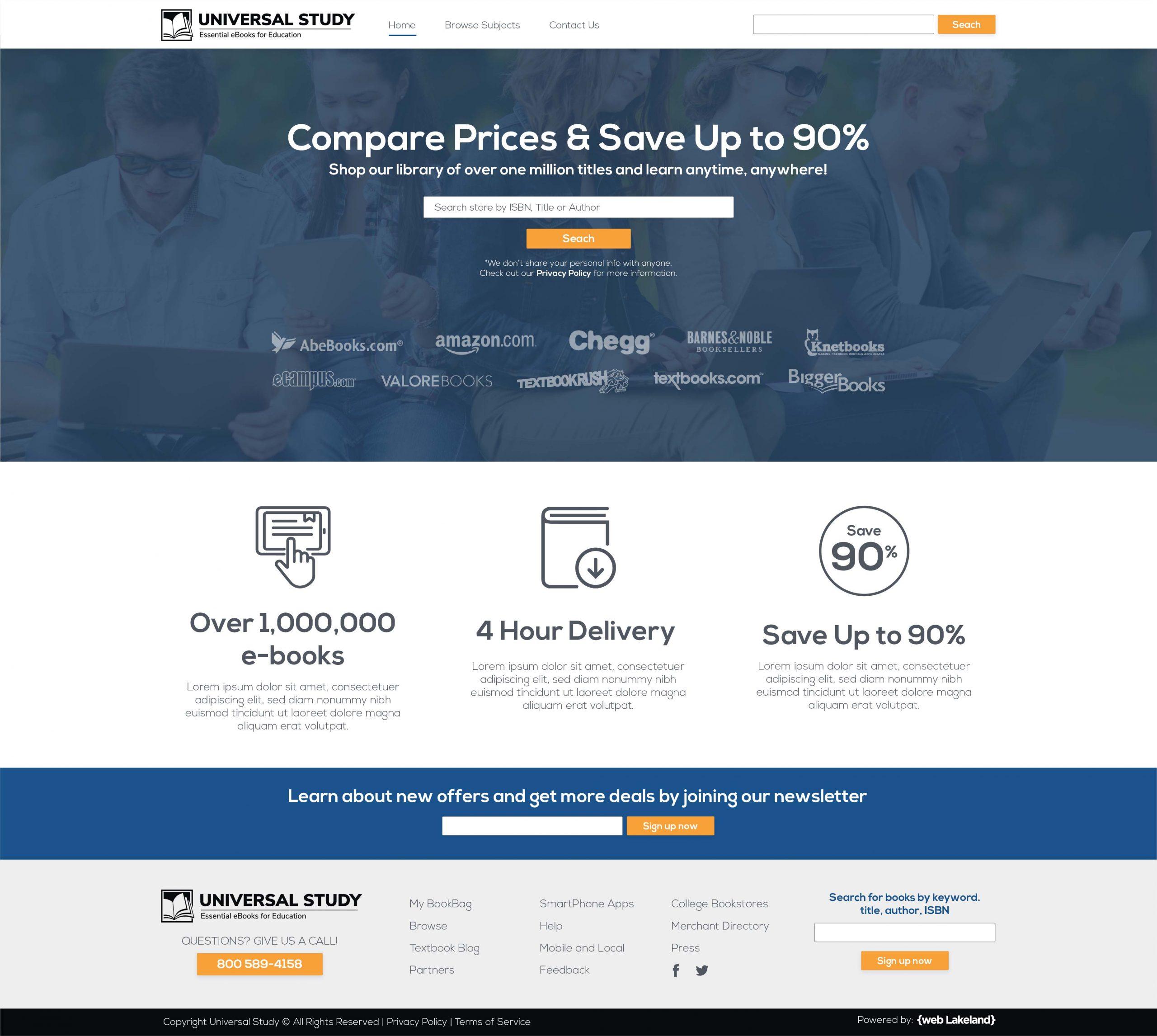 eCommerce website portfolio