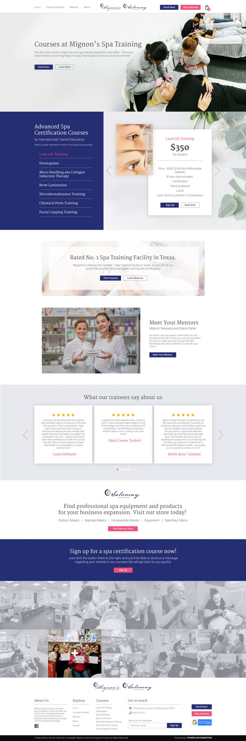 Website design for Massage Spa business