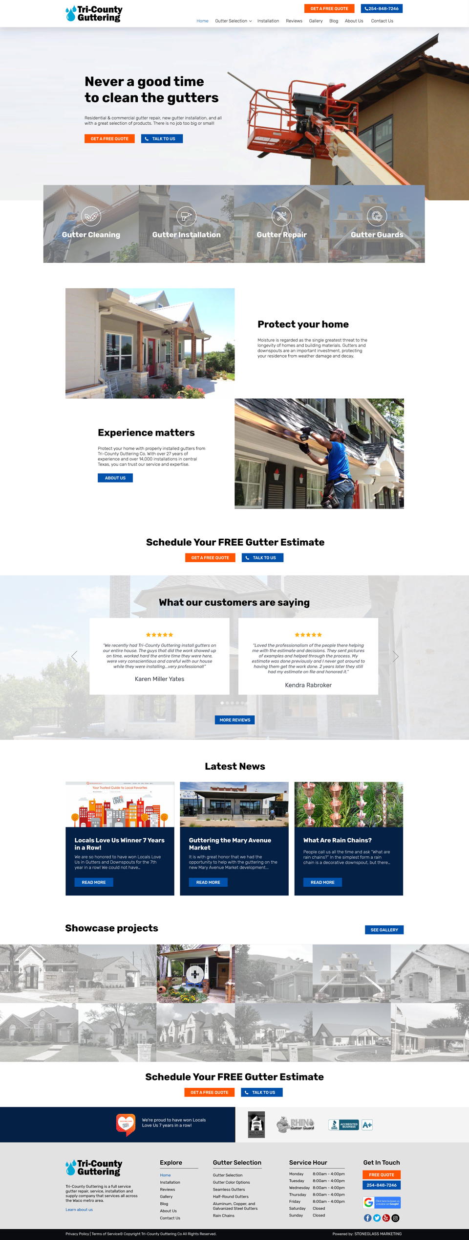 Website design for Construction Business